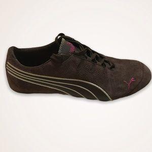 PUMA Chocolate Brown Suede Sneakers
